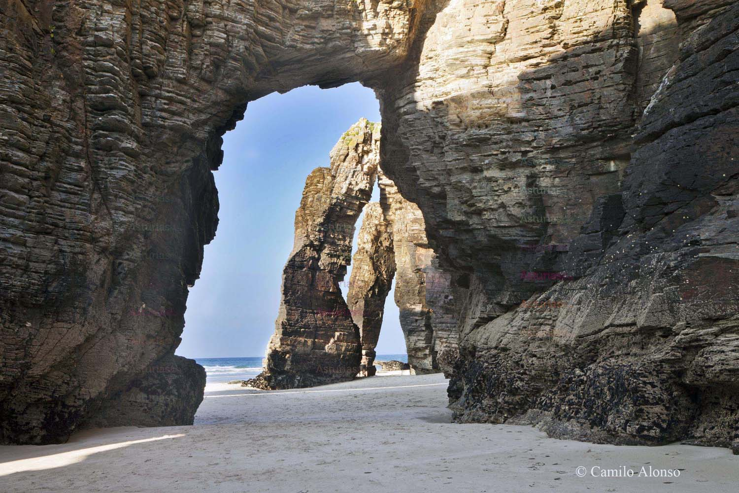 The Cathedrals beach is a protected Natural Monument.